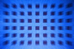 Square dots zoomed blur. Blue tone square dots zoomed blur stock photography