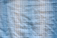 Square dotted fabric overflowing blue white color Royalty Free Stock Photos