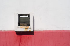 Square drain hole in wall Royalty Free Stock Photos