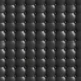 Square elegant dark gray leather texture with buttons for backgr Royalty Free Stock Image