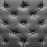Square elegant grey leather texture with buttons for background Royalty Free Stock Photos