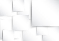 Square element on white paper with shadow Royalty Free Stock Image