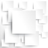 Square element on white paper with shadow (vector) Stock Photos