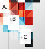 Square elements with infographics and options Royalty Free Stock Image