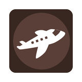 Square emblem with cargo airplane Royalty Free Stock Photography