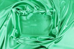 Square in emerald fabric. Stock Images