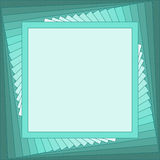 Square emerald frame. Emerald frame for your text or for your photo royalty free illustration