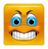 Square emoticon angry. Illustration on white background of Square emoticon angry Stock Images
