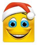 Square emoticon christmas. Illustration on white background of Square emoticon christmas Stock Photo