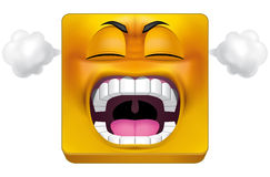 Square emoticon furious Royalty Free Stock Photo