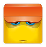 Square emoticon hat Stock Images