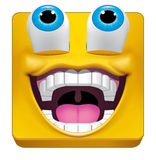 Square emoticon likes what is seeing Stock Images