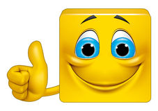 Square emoticon ok Royalty Free Stock Image