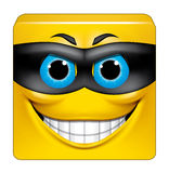 Square emoticon thief. Illustration on white background of Square emoticon thief Royalty Free Stock Photography