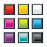 Square empty buttons Royalty Free Stock Photos