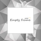 Square empty frame. Square frame with edges which have abstract polygonal background and text for example Stock Image