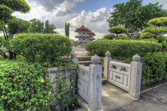 Square Entrance in Chinese Garden Royalty Free Stock Photography