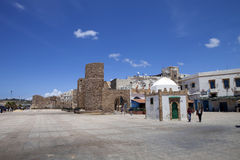 Square entrance to the medina,  Essauria, Morocco Stock Photo