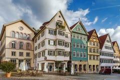 Square in Esslingen am Neckar, Germany. Historical houses on square in Esslingen am Neckar, Germany Royalty Free Stock Photos