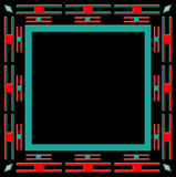 Square ethnic frame  Royalty Free Stock Photography