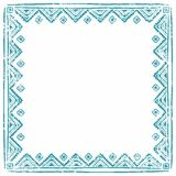 Square ethnic frame. Empty space for your text. Vintage poster. Royalty Free Stock Photos