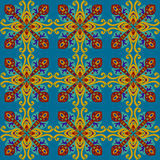 Square ethnic seamless vector pattern Royalty Free Stock Photos