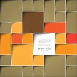 Square färgar bakgrund Royaltyfria Bilder