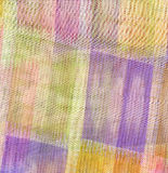 Square fabric background. Wallpaper with a handkerchief texture with multi colour squares Stock Images