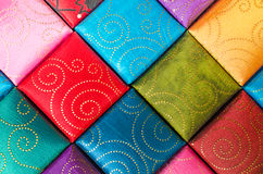 A square, Fabric texture collection and background Stock Images