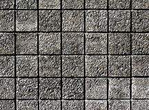 square facade of fine gravel Royalty Free Stock Images