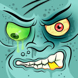 Square Faced Dead Zombie. Vector illustration Royalty Free Stock Photography