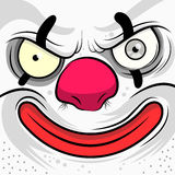 Square Faced Evil Clown. Vector illustration Royalty Free Stock Photography
