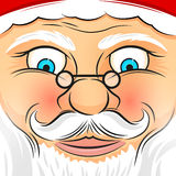 Square Faced Santa Claus Stock Photos