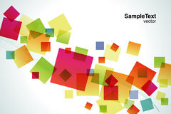Square falling. Many colored squares are falling Stock Photo