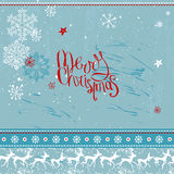 Square festive frame with phrase Merry Christmas. Stock Photo