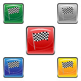 Square finish flag buttons Royalty Free Stock Photo