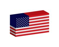 Square flag of the United States of America. American flag in box vector eps10. stock illustration