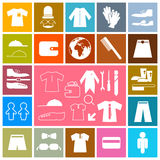 Square Flat Icons Set Royalty Free Stock Photography