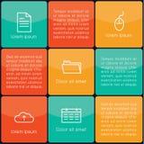 Square flat template. Minimalistic business template. Square flat design Stock Image