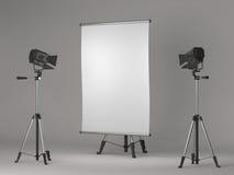 Square Flipchart on Grey Background. Stock Photography