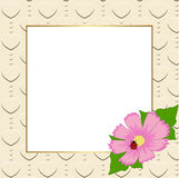 Square floral festive frame. template for a photo or congratulat. Ion. vector illustration Royalty Free Stock Photo