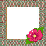 Square floral festive frame. template for a photo or congratulat. Ion. vector illustration Royalty Free Stock Photography