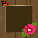 Square floral festive frame. template for a photo or congratulat. Ion. vector illustration Royalty Free Stock Photos