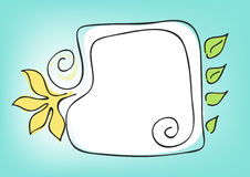 Square-floral-frame Stock Photos