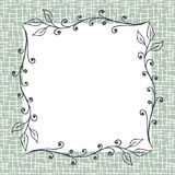 Square Floral Frame Background. With hand drawn twigs and blank space. EPS8 vector illustration Royalty Free Stock Photography