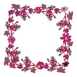 Square floral frame. Royalty Free Stock Image