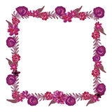 Square floral frame. Royalty Free Stock Images