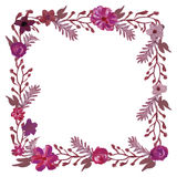 Square floral frame. Stock Images
