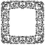 Square floral frame Royalty Free Stock Photo