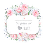 Square floral vector design frame Royalty Free Stock Photography